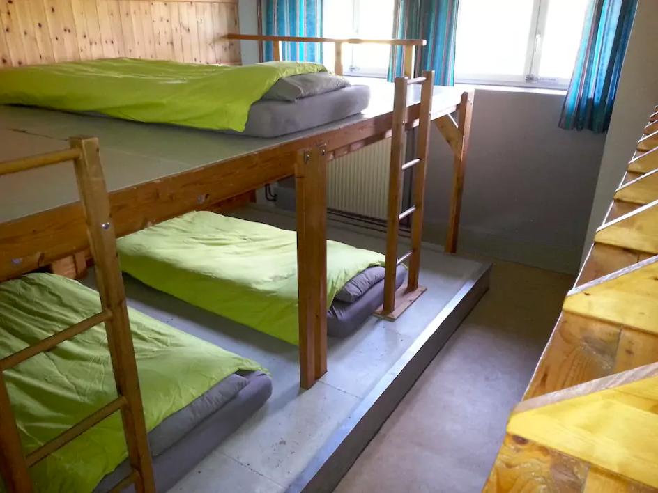 Slaapzaal overnachten Belgische Ardennen